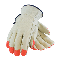 Hi-Vis Leather Drivers Glove